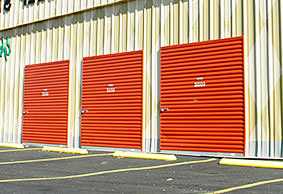 storage facility with exterior paint